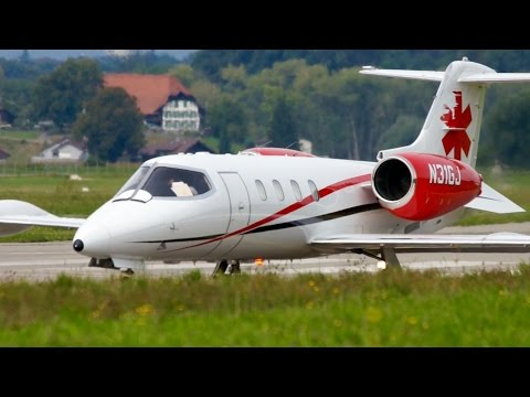 Air Ambulance from USA! Learjet 36A Take-Off at Bern