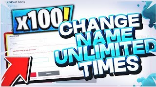 NEW [WORKING] HOW TO CHANGE YOUR USERNAME UNLIMITED TIMES!! [BYPASS] FORTNITE BR [PC XBOX PS4]
