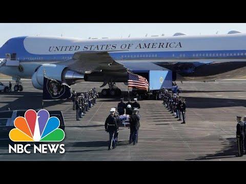 Former President George H. W. Bush Makes Final Journey To Washington | NBC News