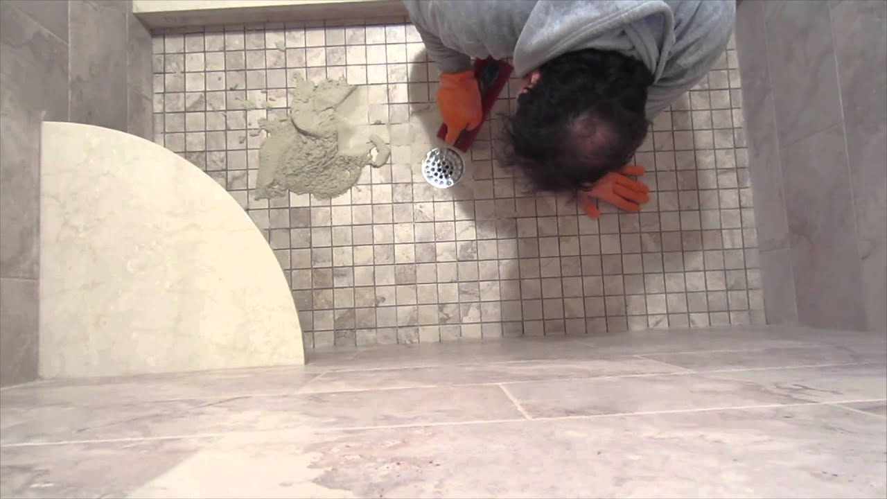 Complete Shower Install Studs To Tile: Part 10 Grouting And Caulking The  Tile   YouTube Part 69