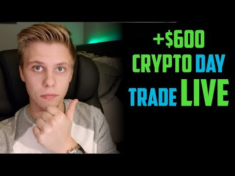 LIVE TRADE of how I made $600 Day Trading Cryptocurrency Binance For beginners 2018