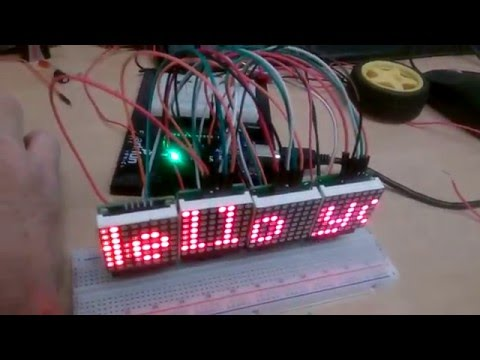 MAX7219 DOT MATRIX LED DISPLAY FOR ARDUINO UNO WITH CODE