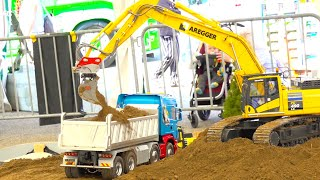 BEST OF RC DIGGER & CONSTRUCTION MACHINES IN ACTION // RC WOOD HANDLER // LIEBHERR // KOMATSU