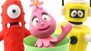 Yo Gabba Gabba! Play doh Animation Stop Motion Video - Muno, Foofa, Plex