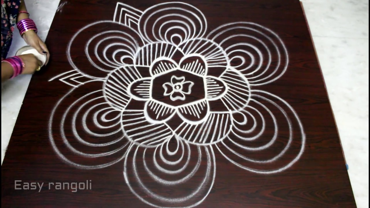 ... 5x3 dots || pongal kolam designs || Easy rangoli designs - YouTube