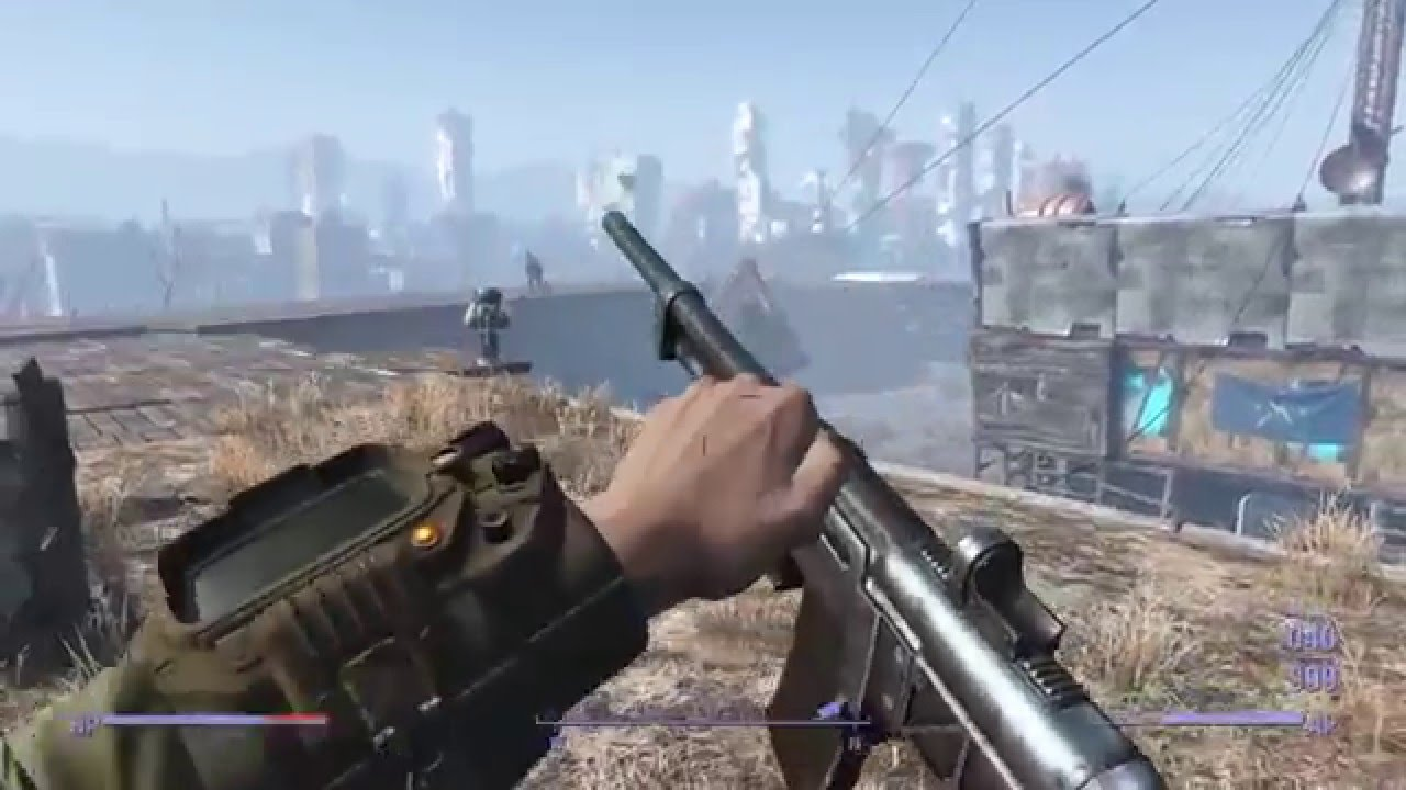 FALLOUT 4: The Castle ATTACK - Gunners VS Settlement Defense ...