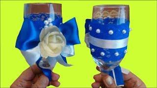 Удивительные  Свадебные бокалы своими руками DIY