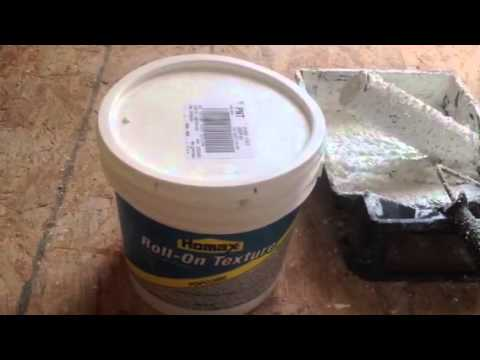 How to roll on popcorn ceiling