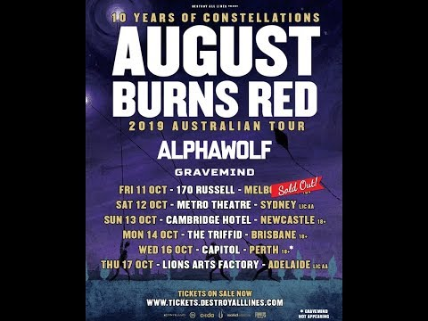 August Burns Red start recording new album + final tour dates of 2019!