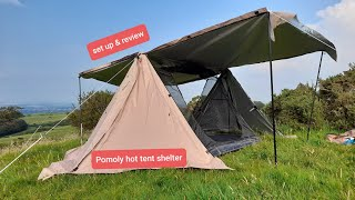 Wild camping Scotland. Sęt up and gear review of the 4 season Pomoly Hot Shelter tent. Bushcraft.