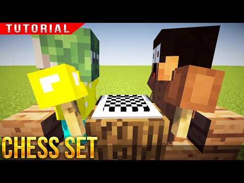 Minecraft - HOW TO MAKE A CHESS SET & PLAYERS !!