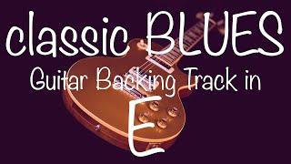 Classic Blues Shuffle Guitar Backing Track in E