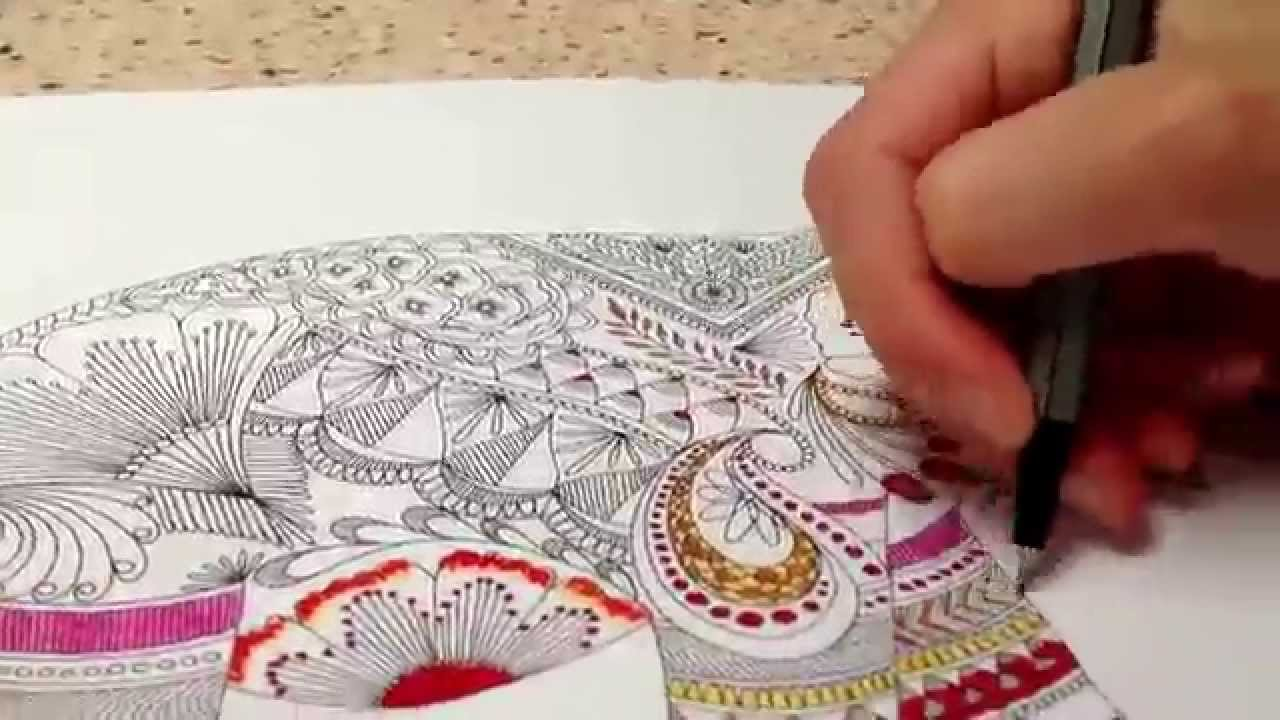 Animal Kingdom Coloring Book Elephant : Timelapse