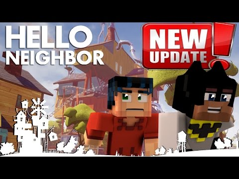 Minecraft Hello Neighbor Alpha 4 Update - The new town (minecraft Roleplay)