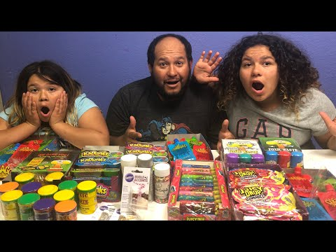 MIXING ALL OUR STORE BOUGHT EDIBLE SLIMES - GIANT EDIBLE SLIME SMOOTHIE
