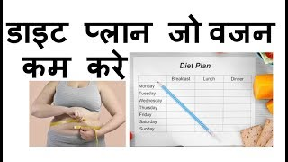 Weight loss diet plan    Healthy Beauty Tips with Nisha