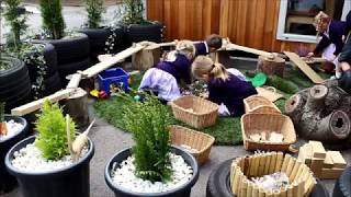 Reception's new outdoor area