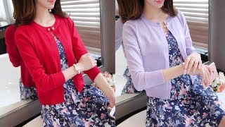 Newest Knitted Cardigan Women Sweater Review | Best Jackets For Women Fashion 2018