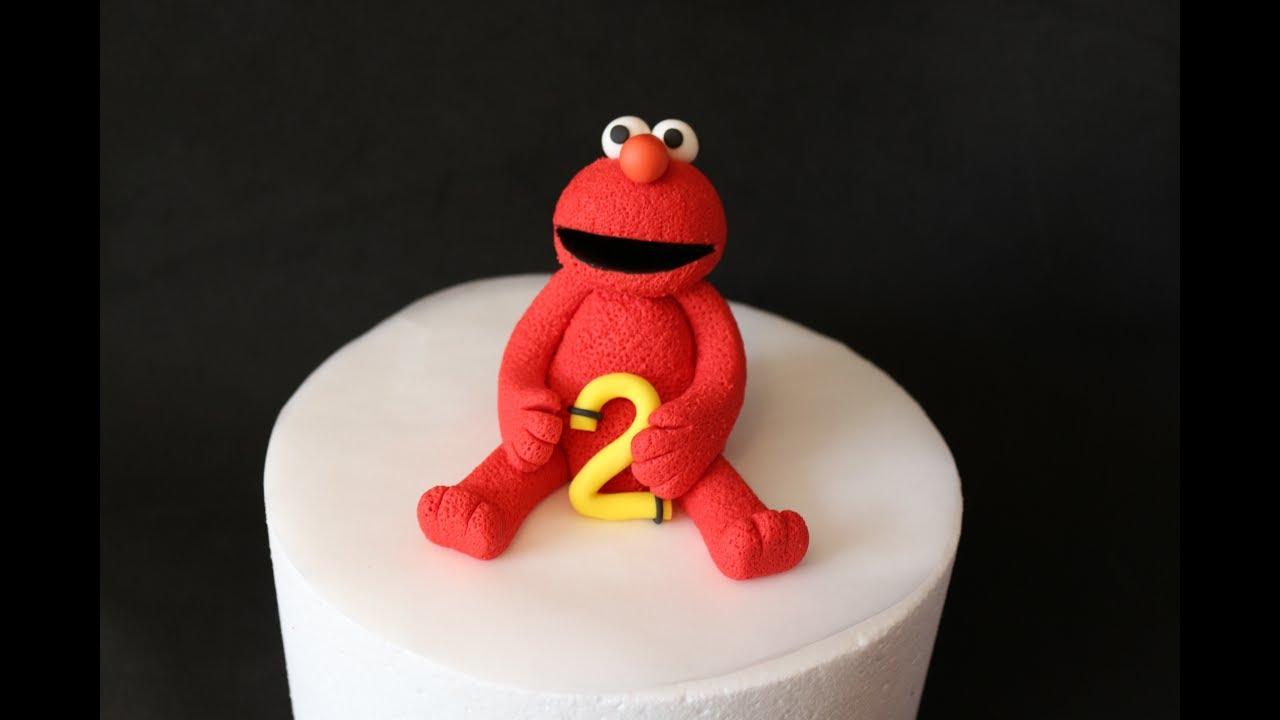 How To Make An Elmo Cake Topper