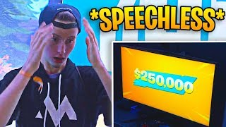 When you win $250,000 from playing Fortnite...
