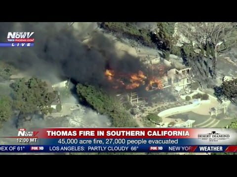 FNN: Wildfires burn in Southern California, President Trump meets with business owners