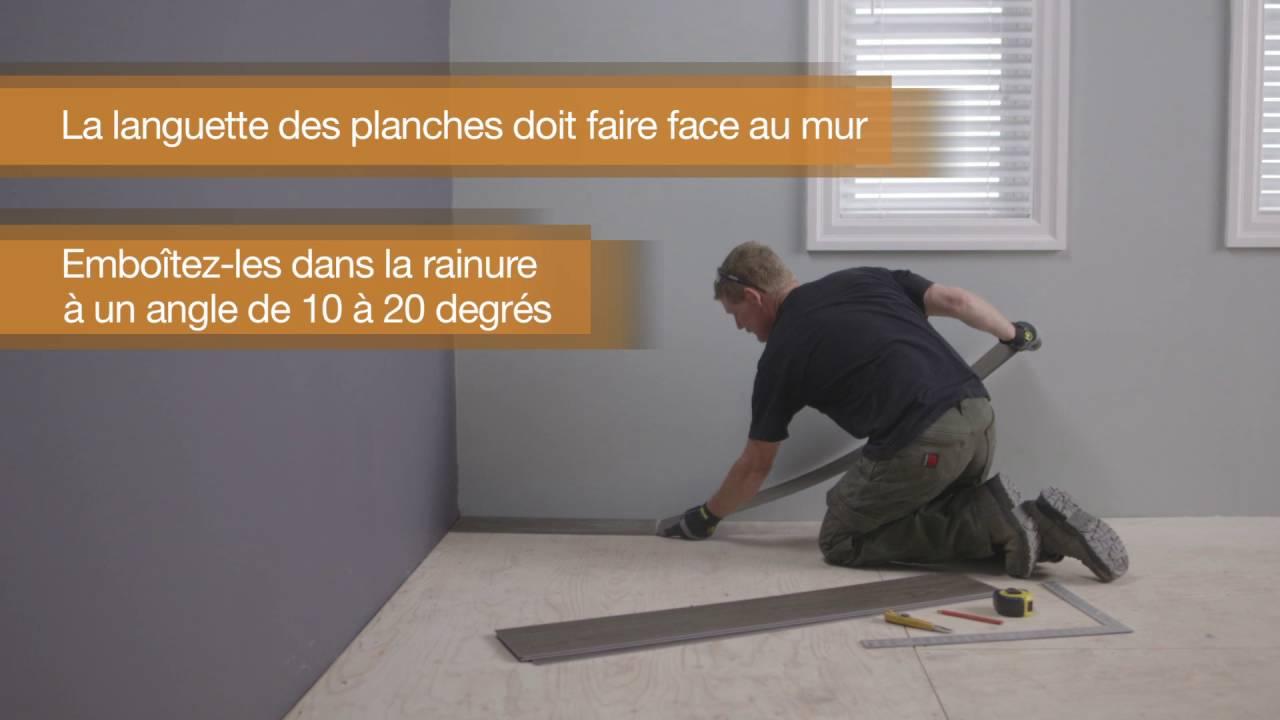 La Plinthe Du Mur comment installer la planche de vinyle de verrouillage