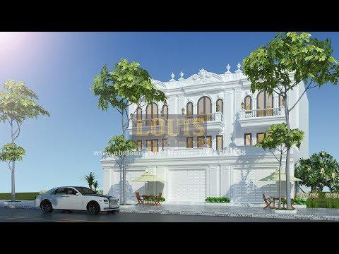 Thiết kế nhà liền kề cổ điển 65m2 tại Bình Dương đẹp kinh ngạc