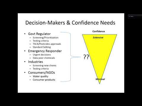 Decision Contexts in a Changing Toxicology Paradigm- Gary Ginsberg