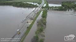 05-08-2019 Wellington, Kansas - Flooding HWY 35 Closed
