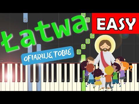 🎹 Ofiaruję Tobie Panie mój - Piano Tutorial (łatwa wersja) 🎹