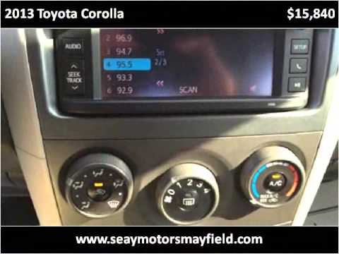 2013 toyota corolla used cars mayfield ky youtube for Seay motors mayfield ky