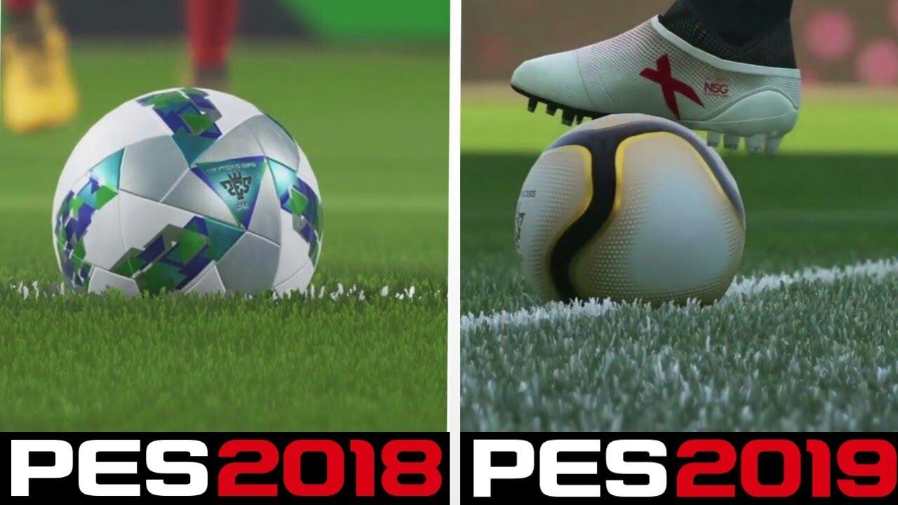 PES 19 vs PES 18 Gameplay Comparison