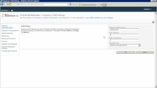 Configure outgoing e-mail settings