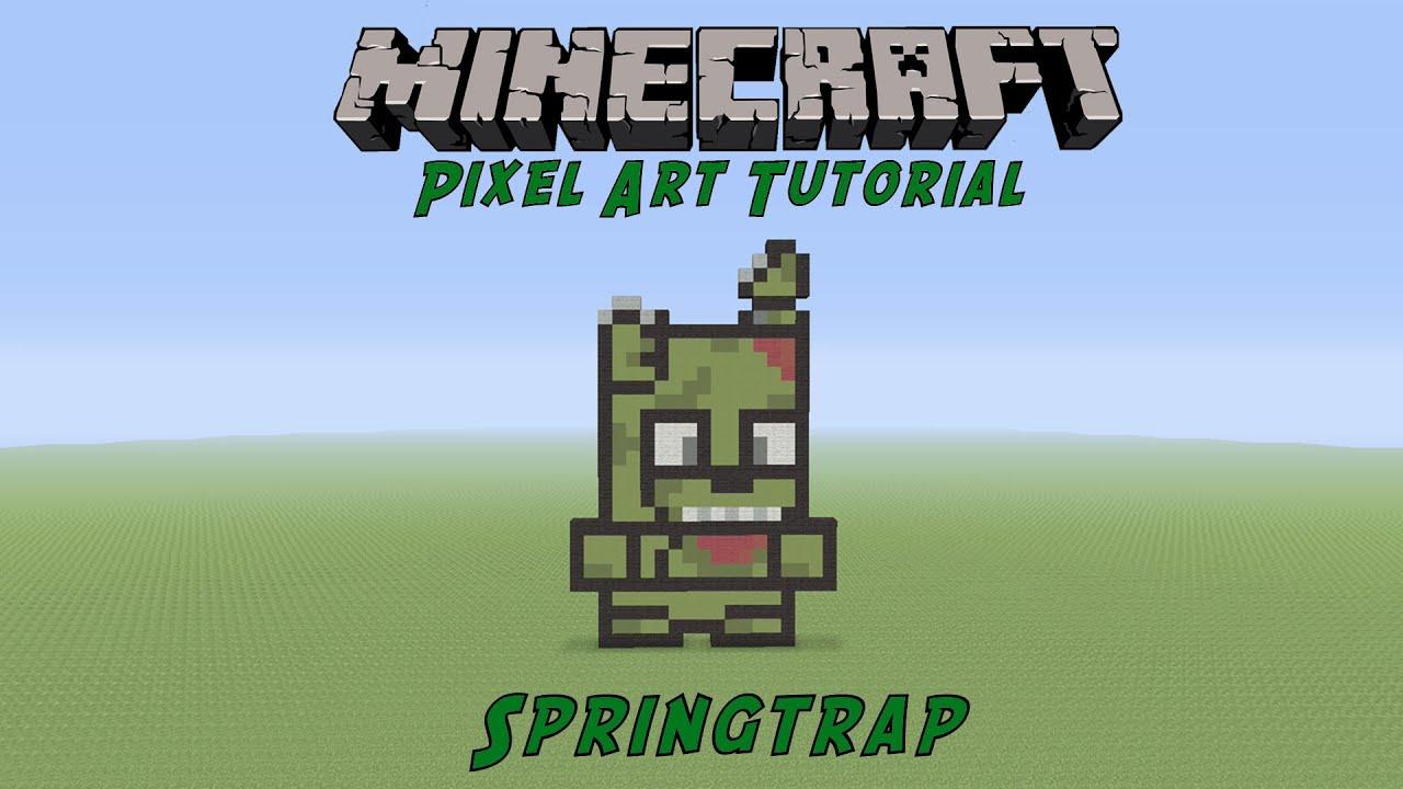 Minecraft Pixel Art Tutorial  Springtrap  Five Night U0026 39 S At Freddy U0026 39 S  Tutorial
