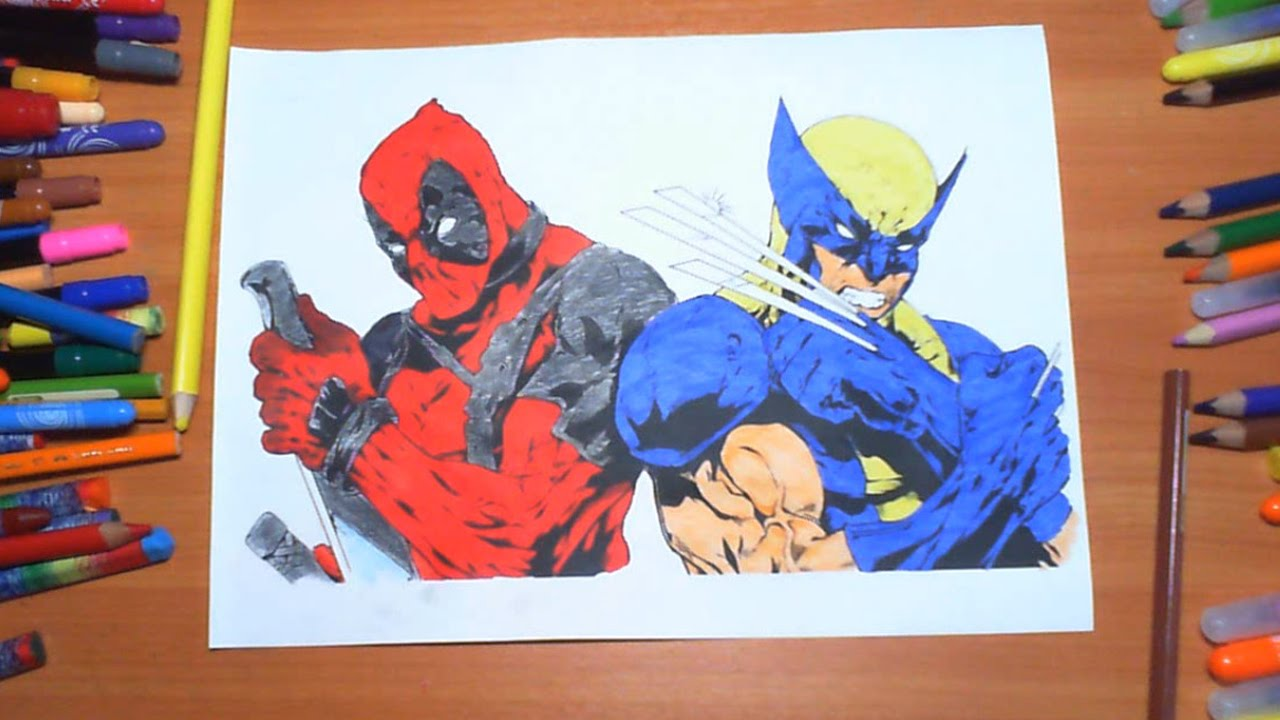 Deadpool Vs Wolverine New Coloring Pages For Kids Colors Superheroes