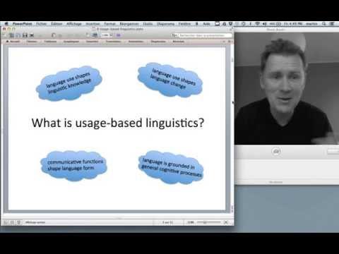 A course in Cognitive Linguistics: Usage-based linguistics