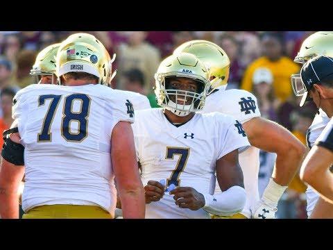 Notre Dame QB Brandon Wimbush: 207 Rush Yards vs. Boston College