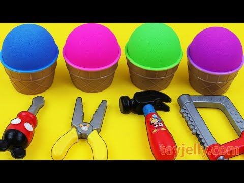 Kinetic Sand VS Mad Matter Kinetic Sand Ice Cream Surprise egg Kinder Surprise Toys Fun for Kids