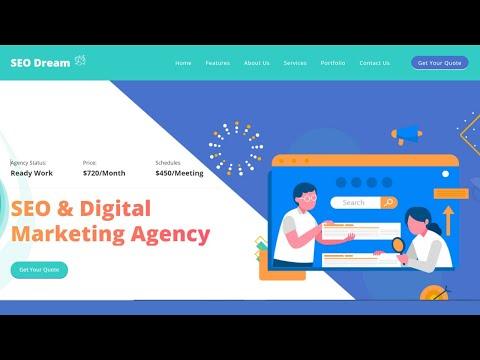 Creative Responsive Website Using HTML And CSS | Digital Marketing Website