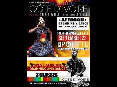 Dance Vlog| Exhibition Cote D'ivoire: African Drum & Dance class 🥁💃🏾