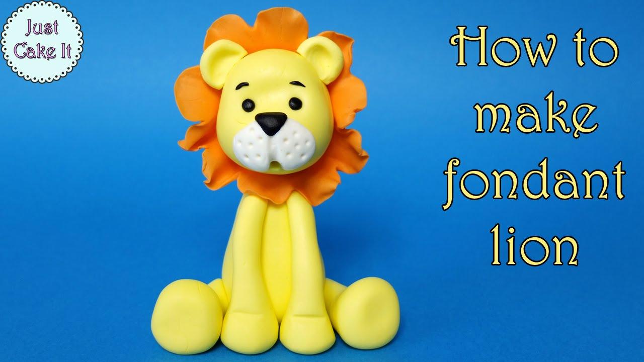 How To Make Fondant Lion Jak Zrobić Figurkę Lwa Z Mas