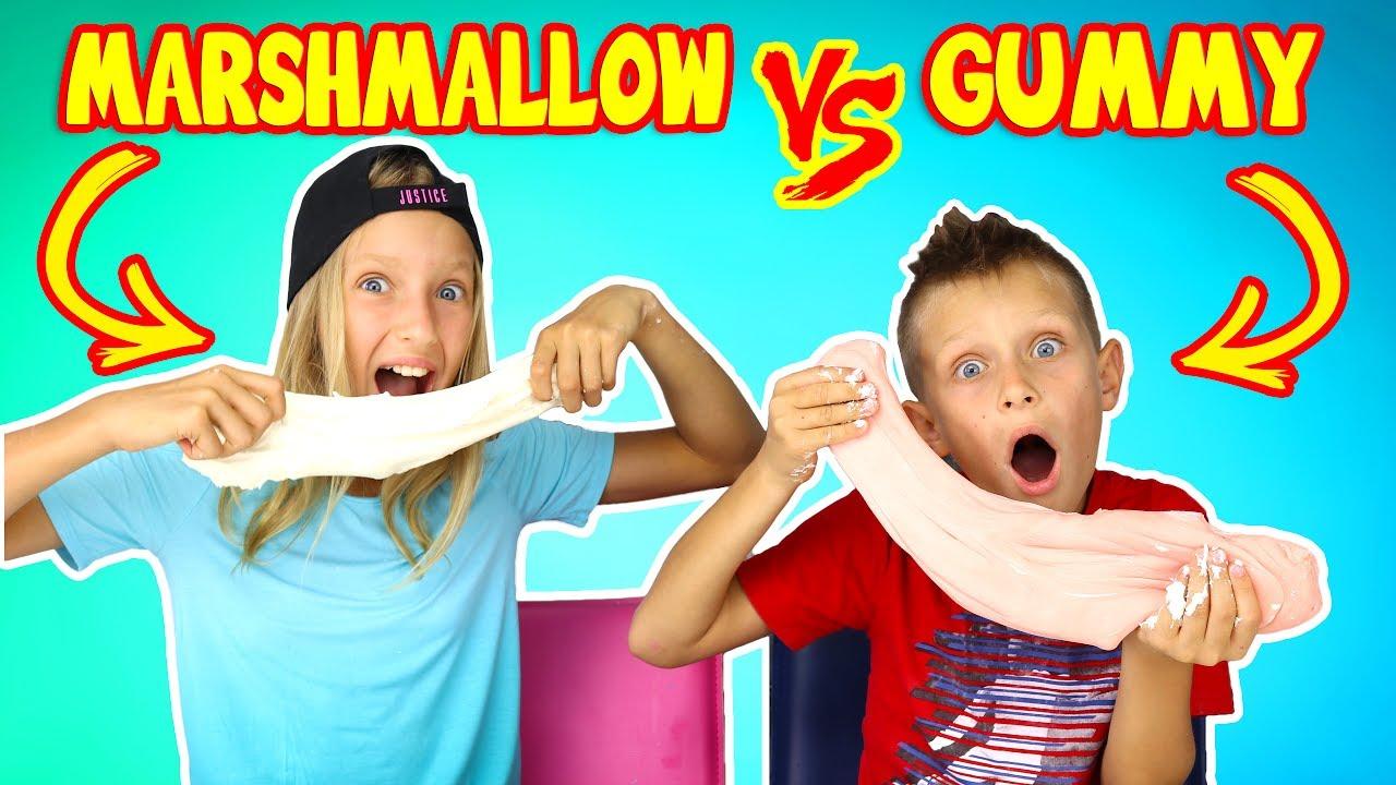 Sis Vs Bro Youtube Slime Challenge Bro Challenges