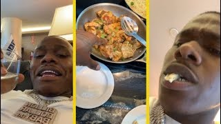 DaBaby Living His Best Life In The Airport Lounge!