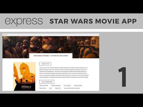 Beginner Express js Tutorial | Building a Star Wars Movie