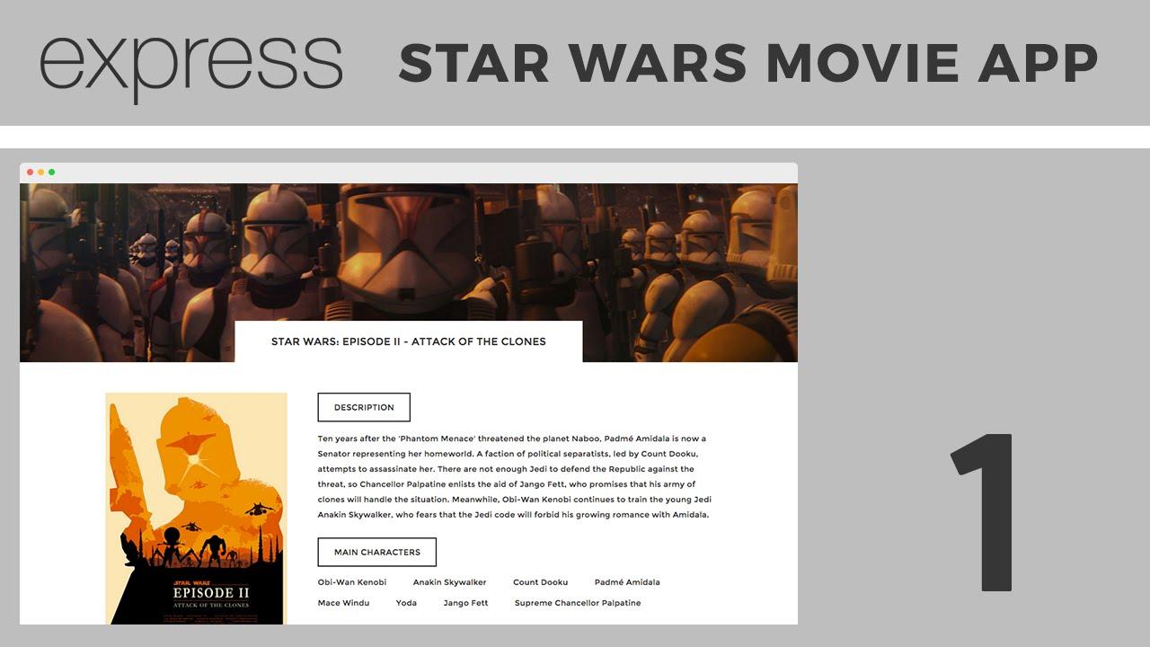 Beginner expressjs tutorial building a star wars movie app beginner expressjs tutorial building a star wars movie app part 1 youtube baditri Choice Image
