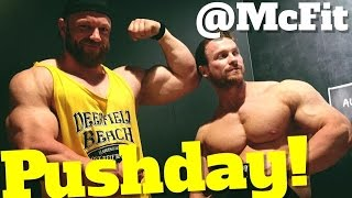 Pushday im McFit - Bodybuilding Stil