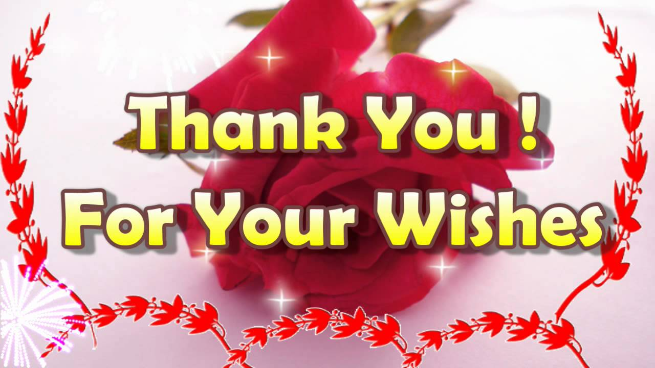 Thank you for your wishes thank you ecard youtube m4hsunfo