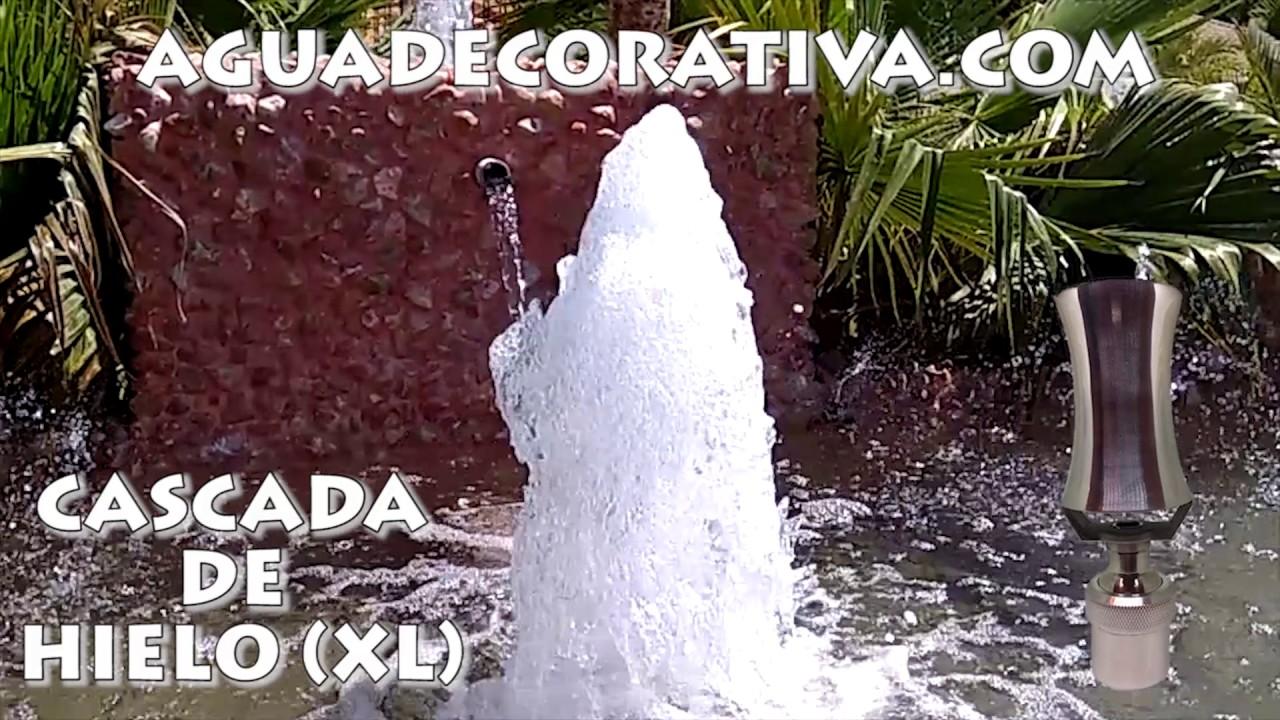 Cascada de agua para fuentes de jard n cascada de hielo for Cascadas y fuentes de jardin