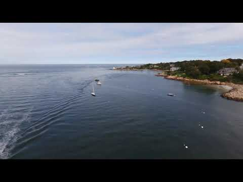 Parrot Disco cruise up the river and back to Annisquam Lighthouse