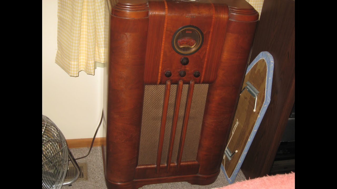 1938 philco floor radio model 38 8 youtube